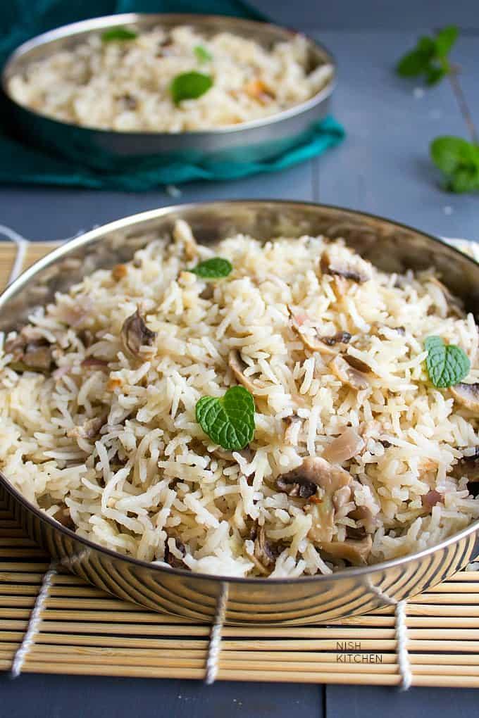 easy mushroom pulao