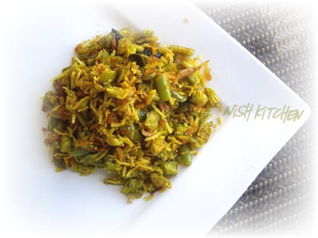 Ivy Gourd and Dried Shrimp Stir Fry | Nish Kitchen