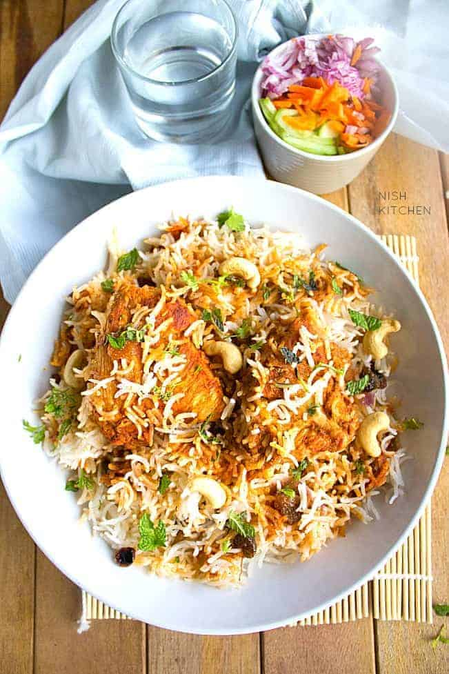 Malabar chicken biriyani nish kitchen for Chicken biryani at home