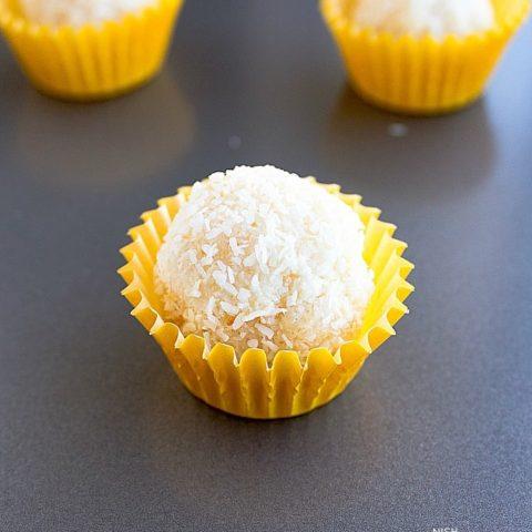 Coconut Ladoo - with Condensed Milk