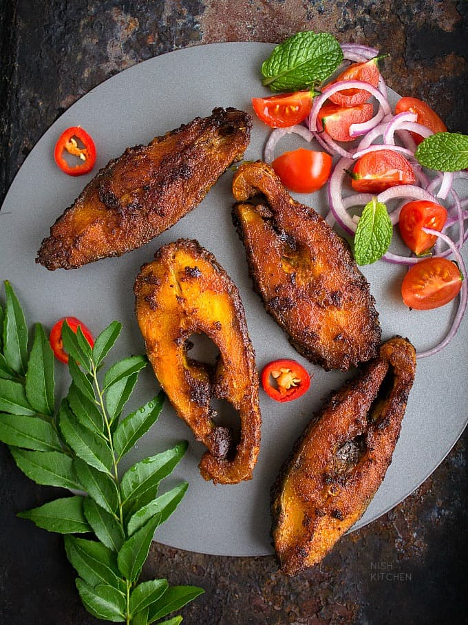Chettinad fish fry nish kitchen for What goes good with fried fish