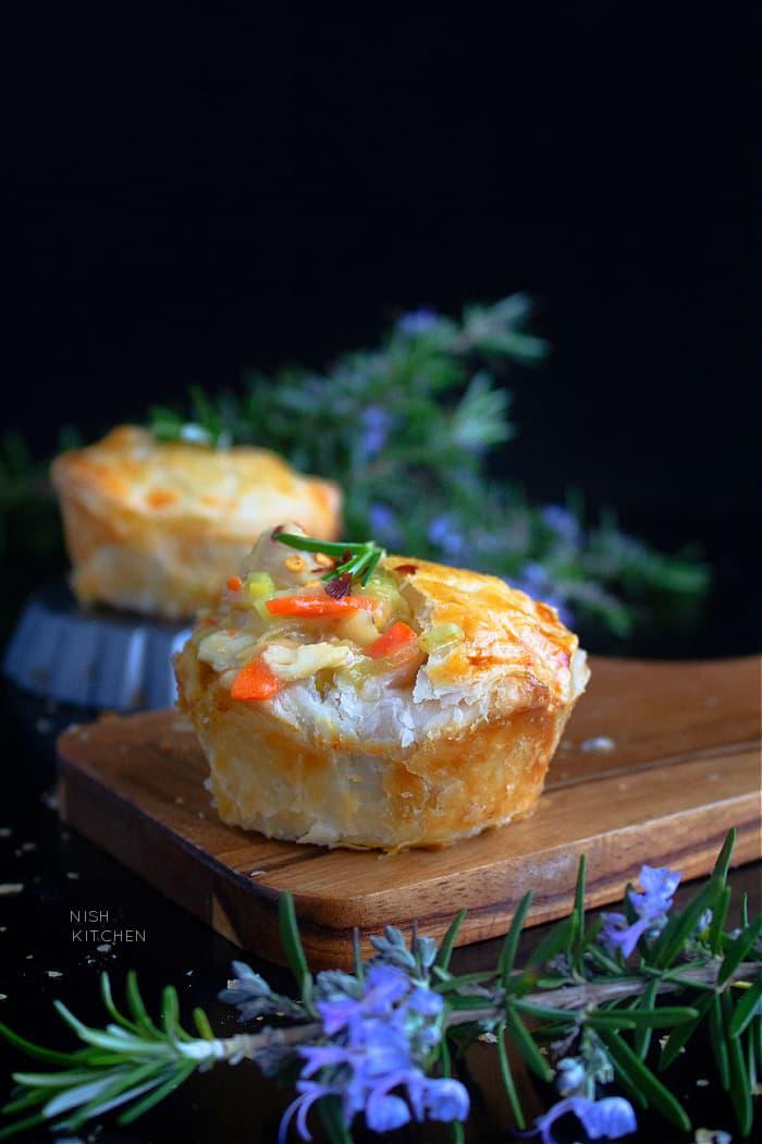 Mini chicken and leek pies recipe