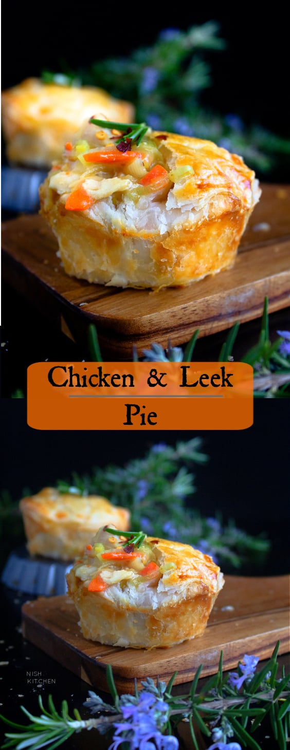 Mini Chicken and Leek Pie