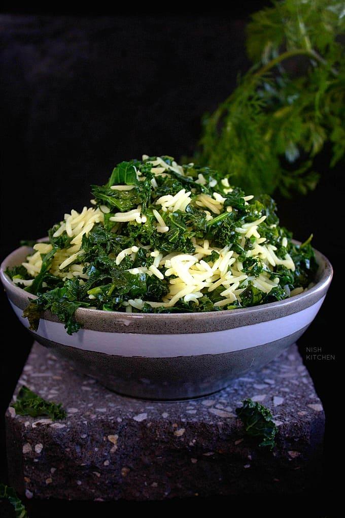 Easy Kale Rice Recipe
