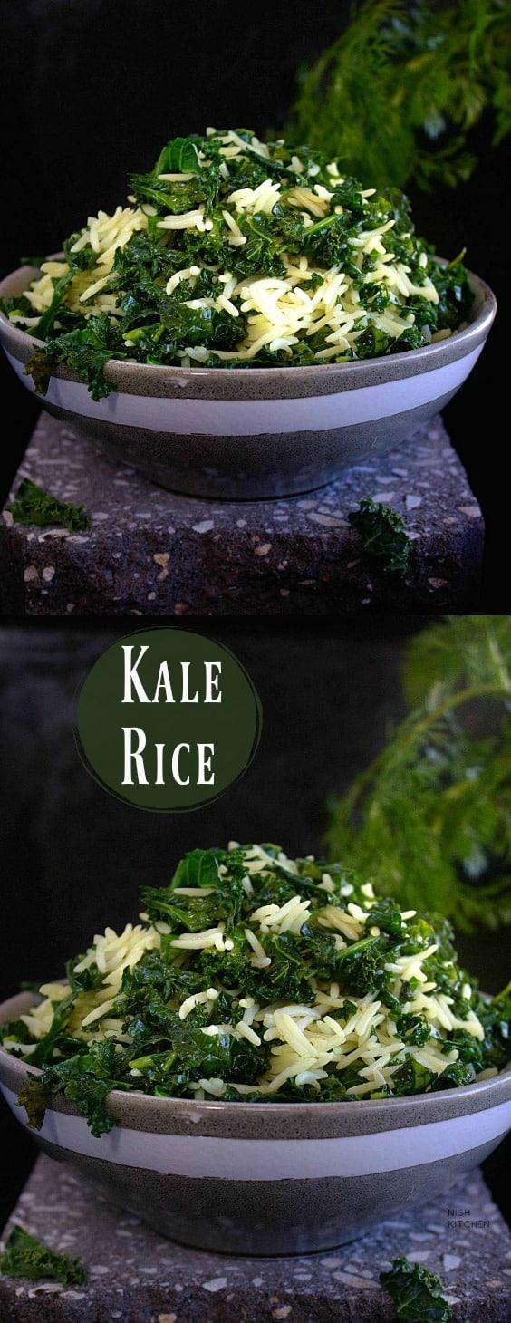Easy Kale Rice