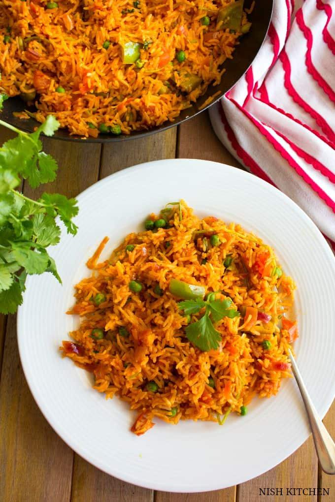 tomato pulao   indian street food   nish kitchen