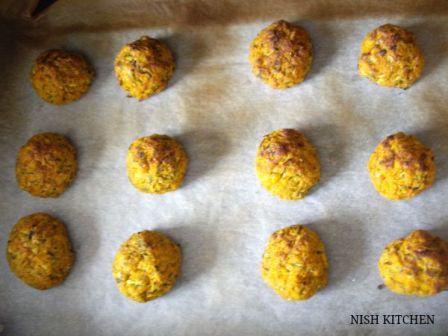 vegan baked zucchini balls recipe 6