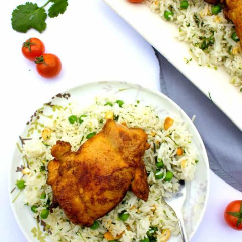 Baked Chicken with Cilantro Rice Salad