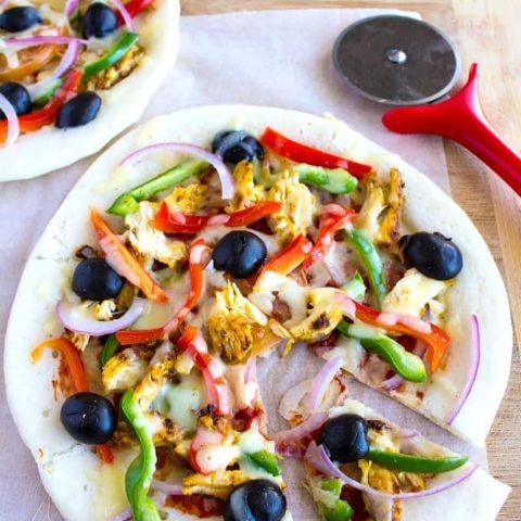 Chicken dosa pizza