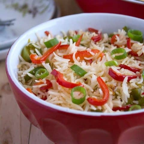Quick and Easy Ginger Capsicum Fried Rice