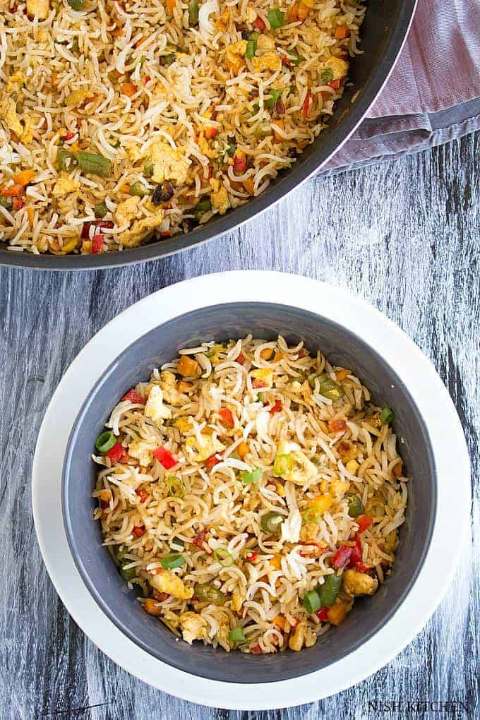 Egg fried rice indian style video nish kitchen egg fried rice indian style forumfinder Choice Image