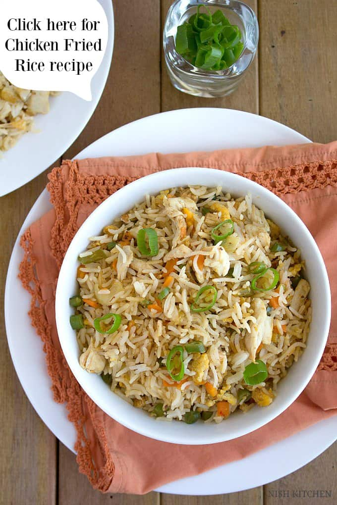 Indian chicken fried rice