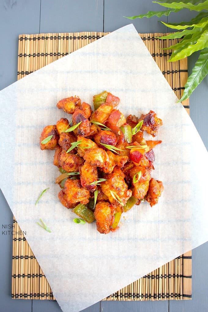 Chicken Manchurian Dry Video Nish Kitchen