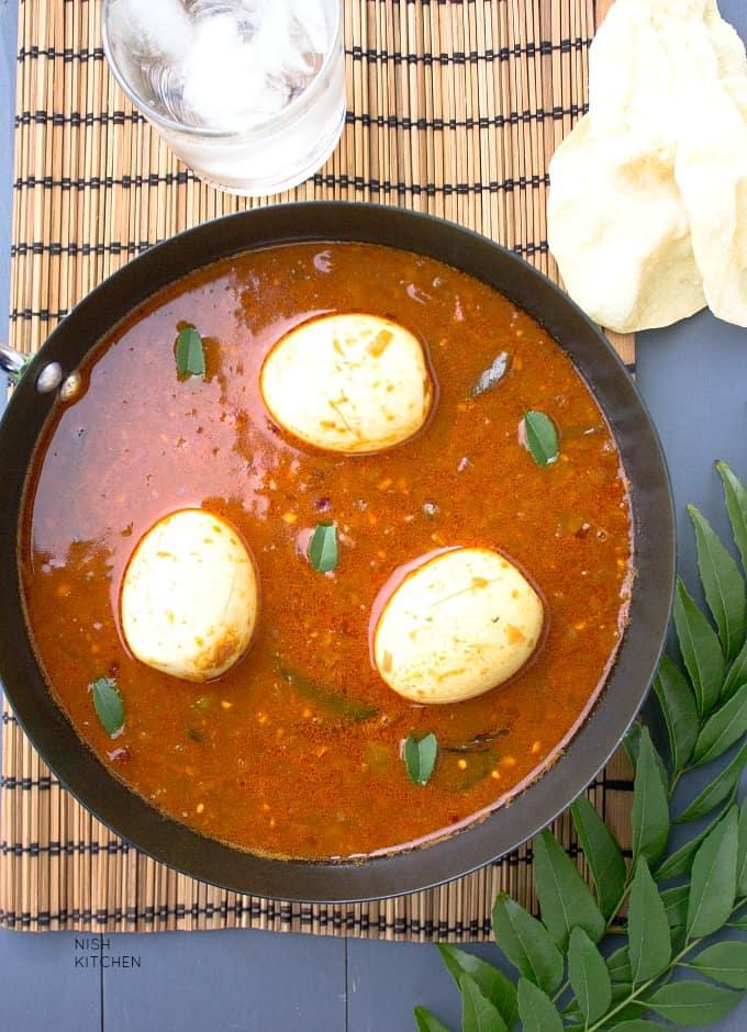 egg pulusu recipe - andhra egg curry
