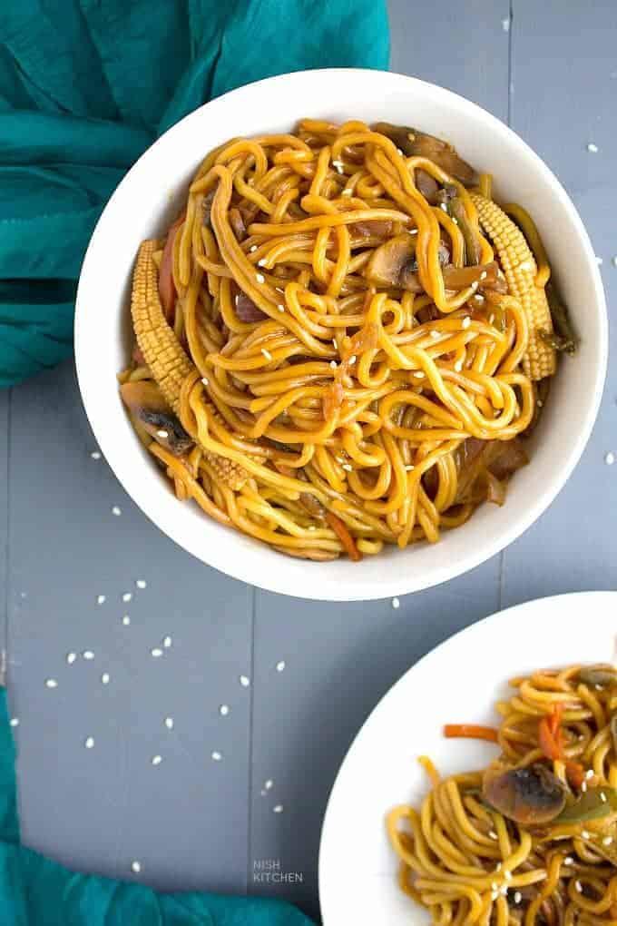 honey soy noodles video