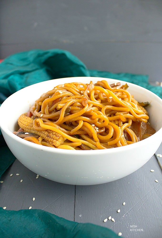 honey soy noodles