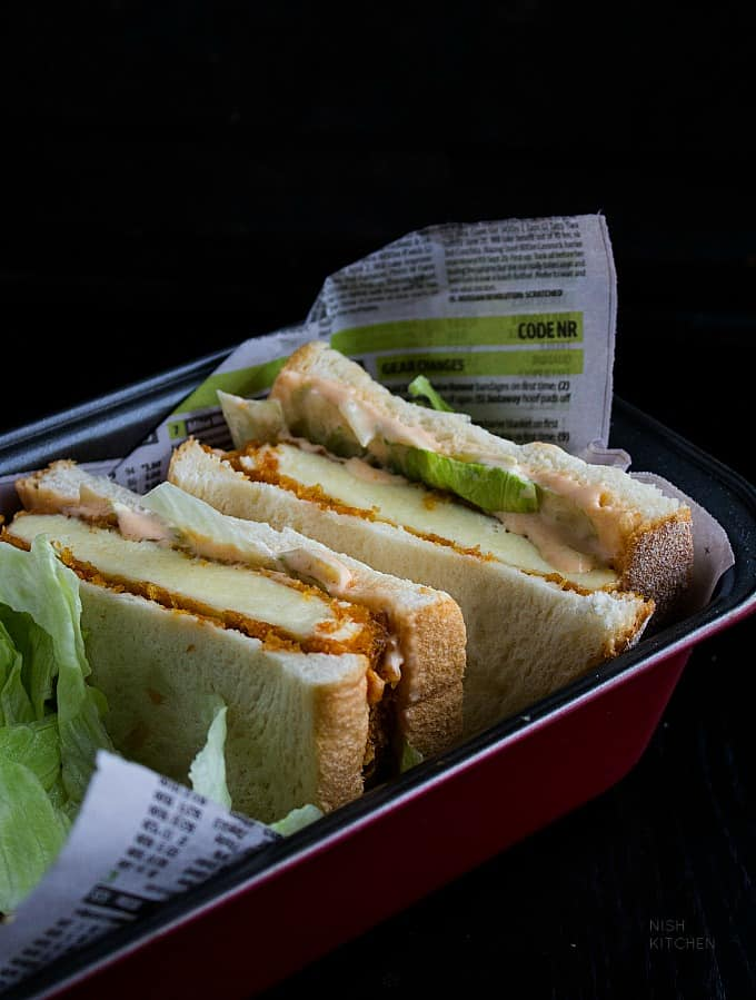 spicy paneer sandwich