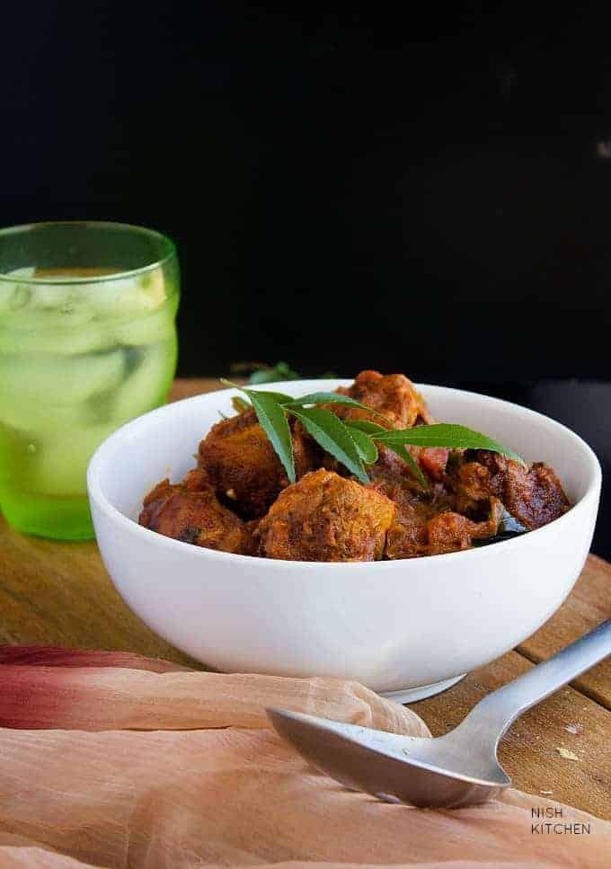 kerala chicken roast recipe with video