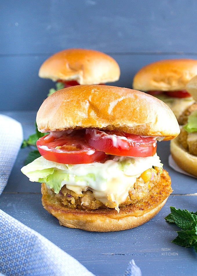 Easy Chickpea Burgers | Video
