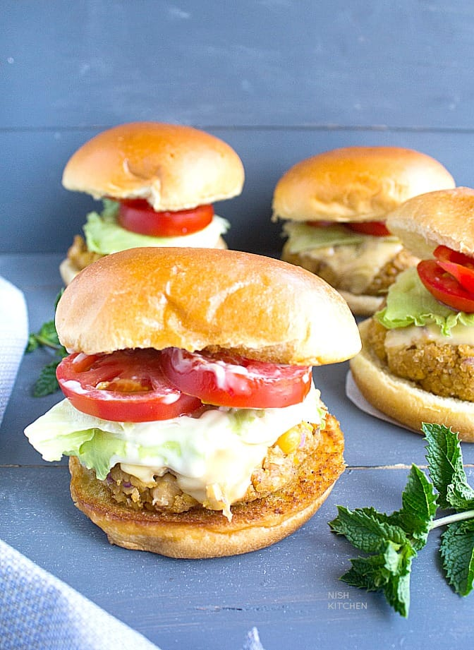 easy chickpea burgers video recipe