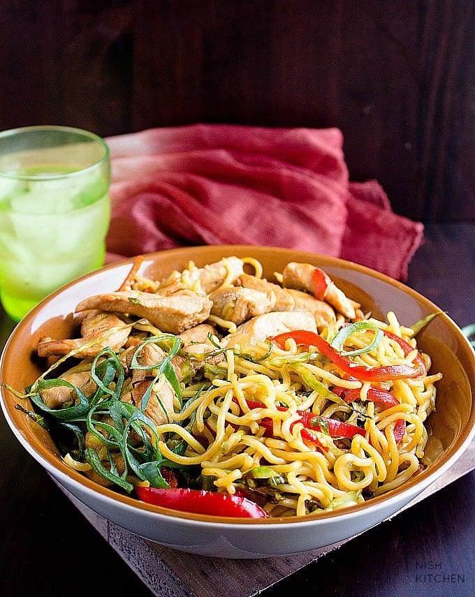 chicken chow mein noodles recipe