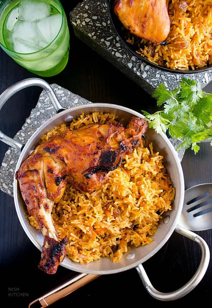 Chicken Kabsa Arabian Chicken And Rice Video Nish Kitchen