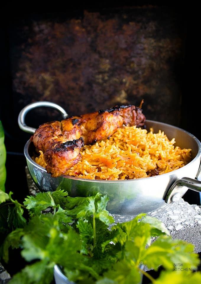 Chicken Kabsa Arabian Chicken And Rice Video Nish Kitchen