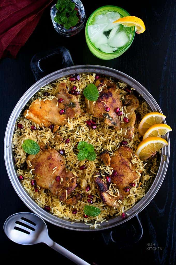 One Pot Indian Chicken And Rice Video Nish Kitchen