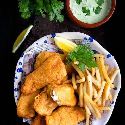 Amritsari Fish | Indian Style Fish and Chips | Video