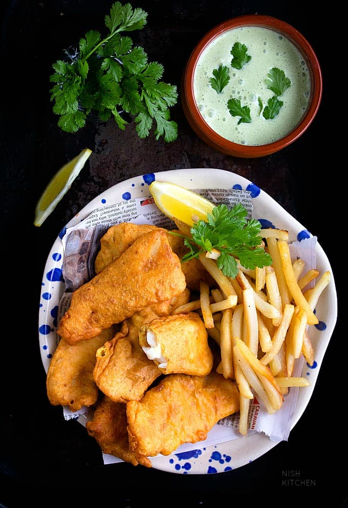 amritsari fish indian style fish and chips video nish kitchen. Black Bedroom Furniture Sets. Home Design Ideas