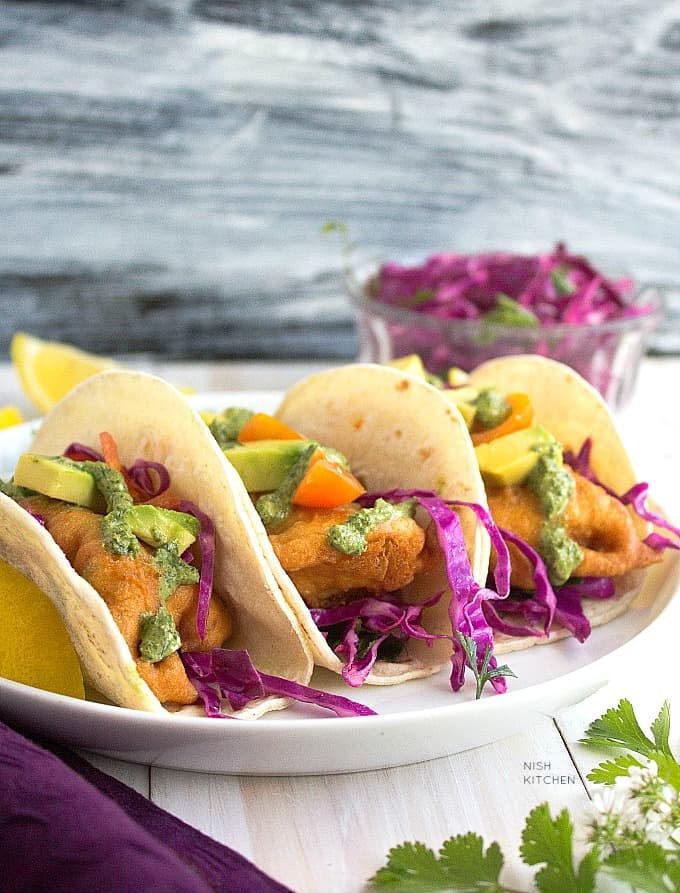 indian style fish tacos recipe
