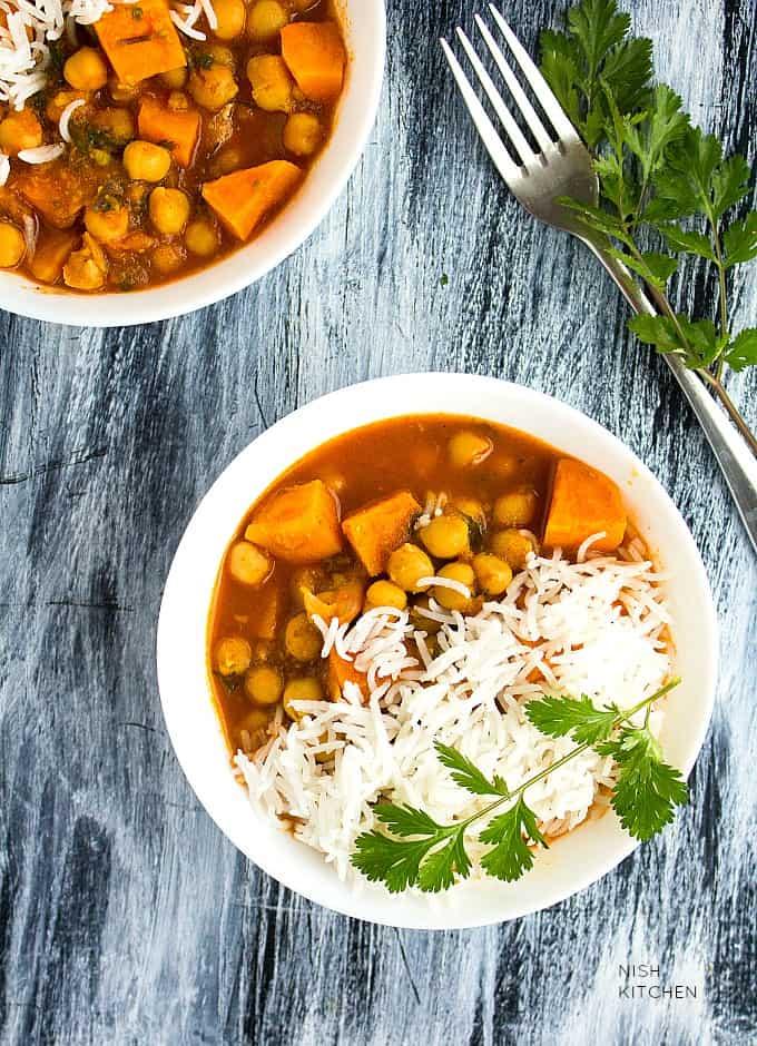 sweet potato chickpea curry recipe
