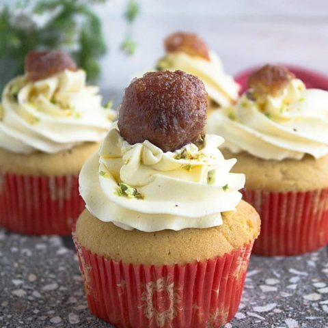 gulab jamun cupcakes recipe video