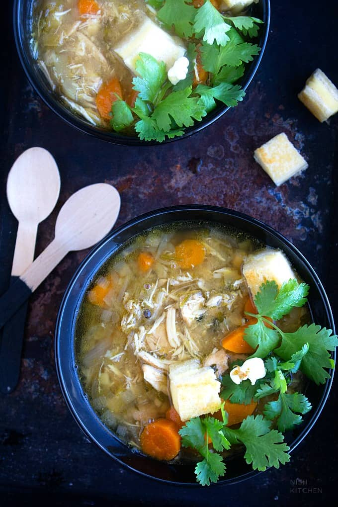 slow cooker chicken soup indian style recipe video