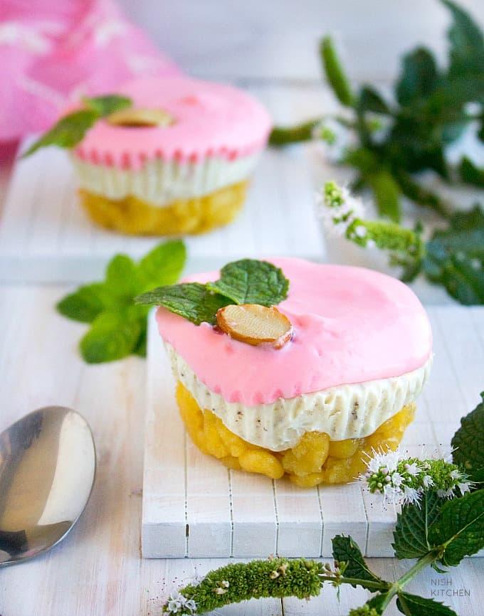 no bake mini thandai cheesecake recipe video
