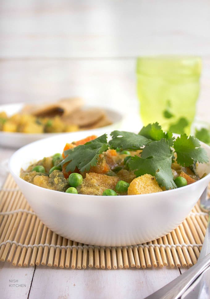 veg korma | Mixed vegetable kurma