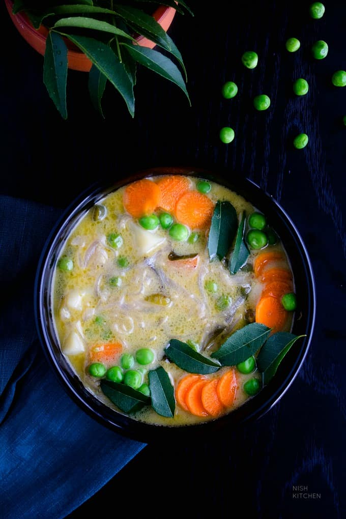 kerala vegetable stew or ishtew