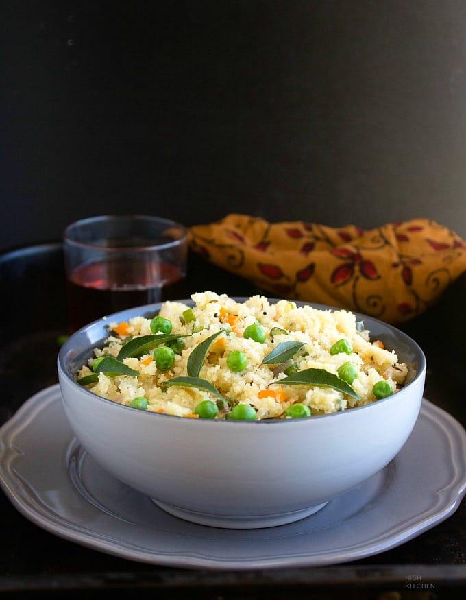 Vegetable upma with semolina recipe video
