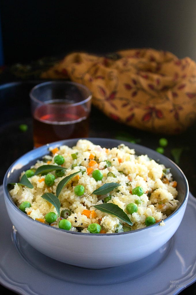 vegetable upma with semolina recipe