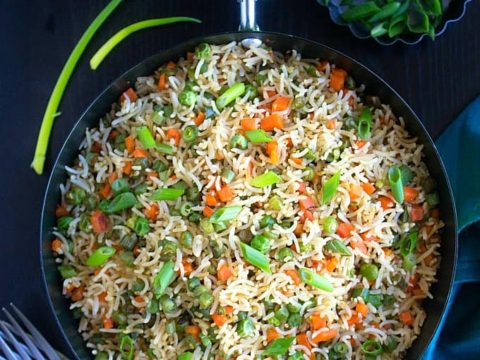 Vegetable Fried Rice Indian Style Video Nish Kitchen