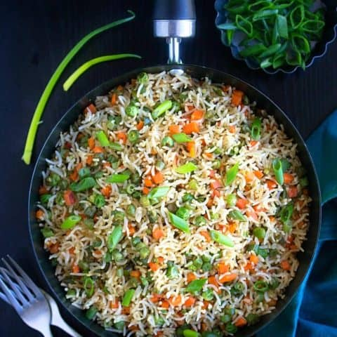 vegetable fried rice indian style recipe video