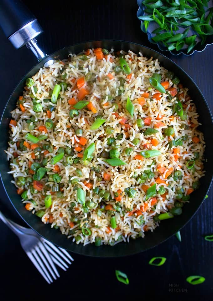 vegetable fried rice indian style recipe