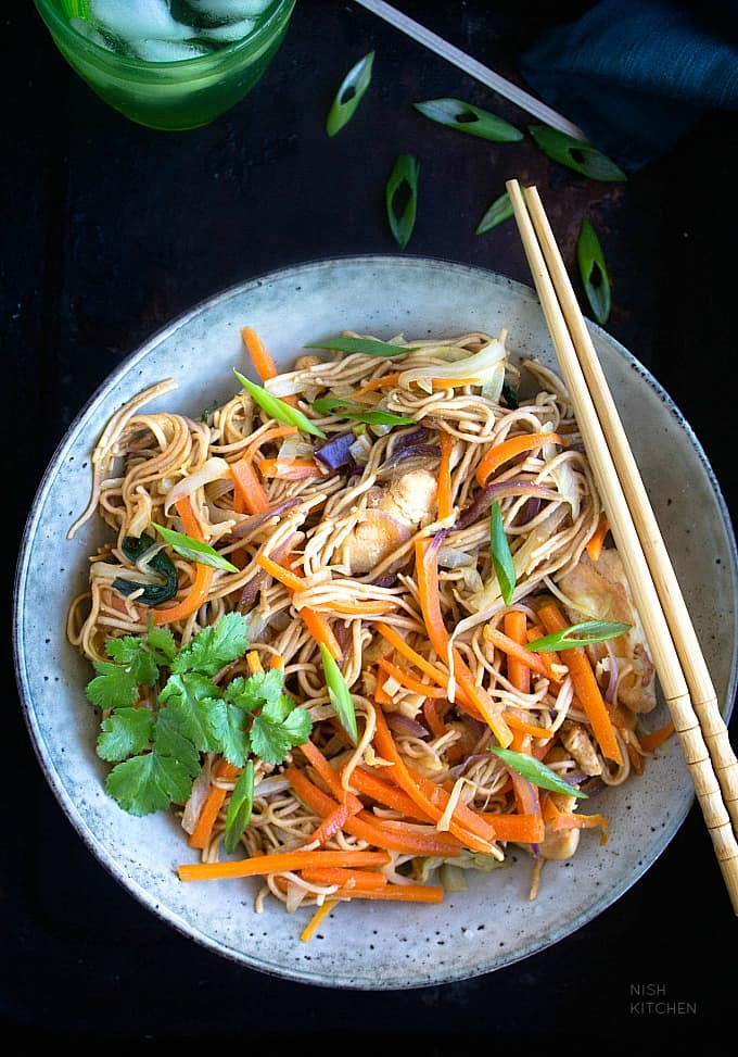 chicken yakisoba noodles recipe