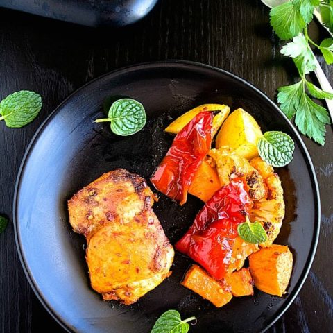 indian spiced chicken tray bake recipe video