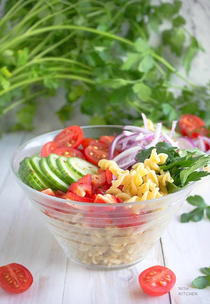 spicy pasta salad recipe video