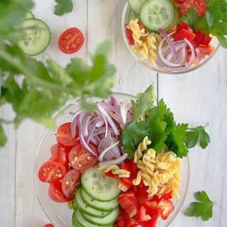 spicy pasta salad with balsamic vinaigrette recipe video