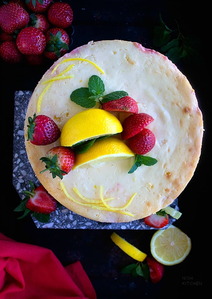 strawberry lemon cheesecake recipe video