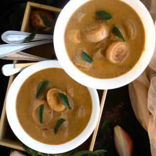 ulli theeyal recipe video