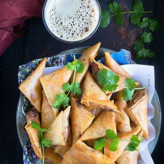 butter chicken samosa recipe video