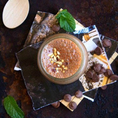 Healthy Dark Chocolate Milkshake | Video